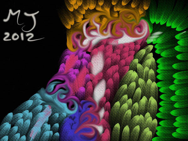 Psychedelic Poster featuring the digital art Inside My Mind by Michael Jordan