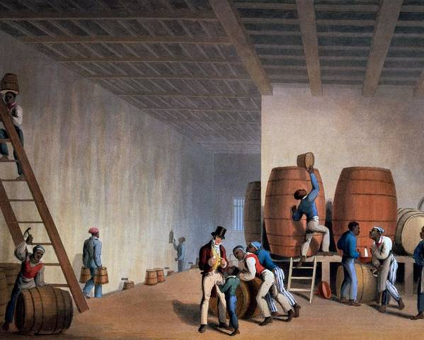 Slave Poster featuring the drawing Inside The Distillery, From Ten Views by William Clark