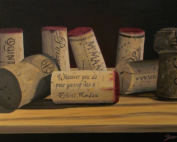 Wine Art Poster featuring the painting Inspirational by Brien Cole