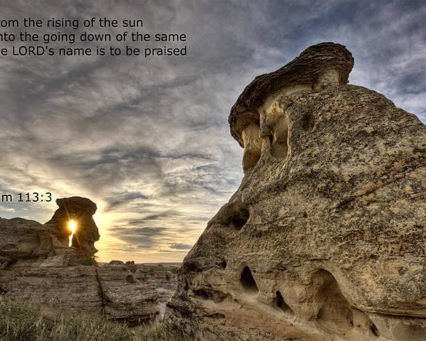 Stone Poster featuring the photograph Inspirational Hoodoo Badlands Alberta Canada by Mark Duffy