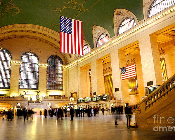 Architecture Poster featuring the photograph Interior Grand Central Station by Linda Parker