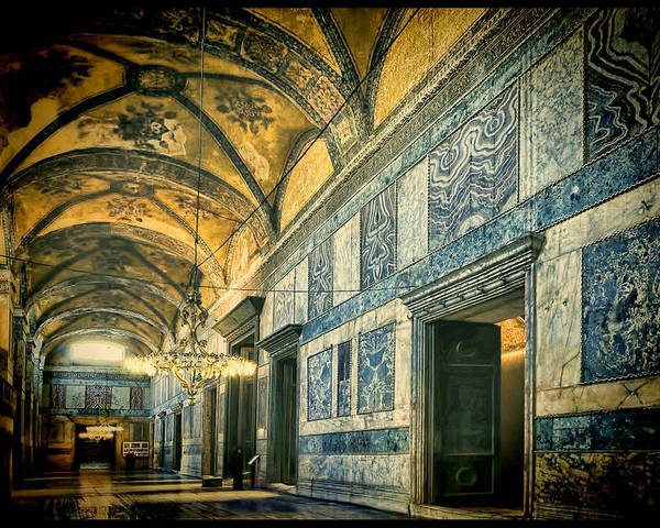 Hagia Sophia Poster featuring the photograph Interior Narthex by Joan Carroll