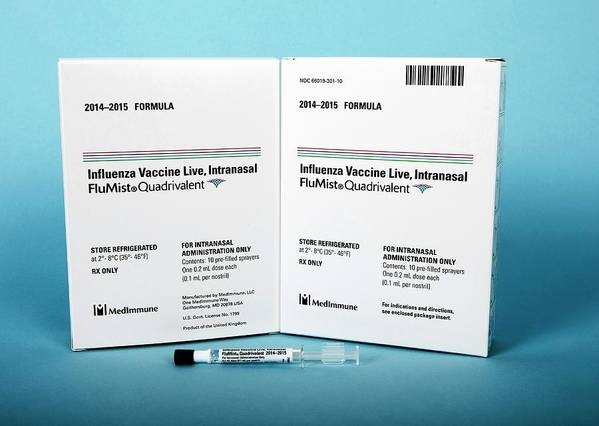 Flumist Poster featuring the photograph Intranasal Flumist Vaccine And Packaging by Cdc