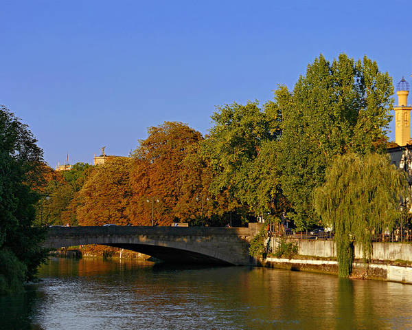 Isar Poster featuring the photograph Isar River - Munich - Bavaria by Christine Till