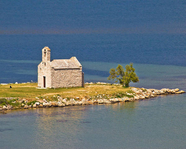 Croatia Poster featuring the photograph Island Church By The Sea by Brch Photography