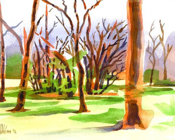 Island In The Woods Poster featuring the painting Island In The Wood by Kip DeVore