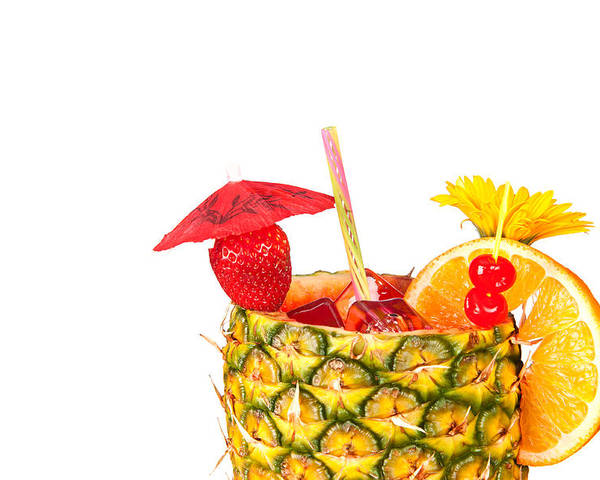 Cocktail Poster featuring the photograph Isolated Tropical Drink by Joe Belanger