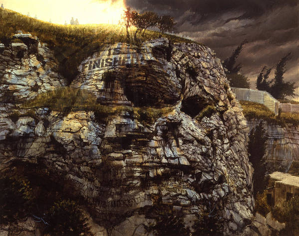 Golgotha Poster featuring the painting It Is Finished Calvary Jerusalem by Graham Braddock