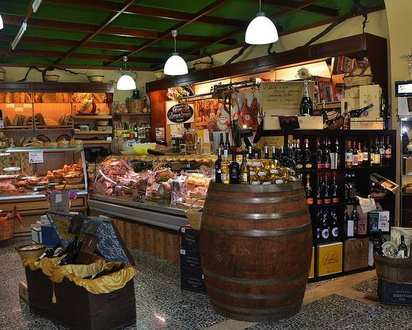 Grocery Poster featuring the photograph Italian Grocery by Dany Lison