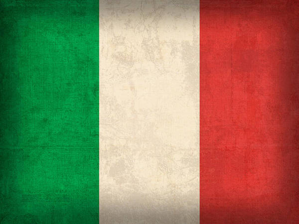 Italy Flag Vintage Distressed Finish Rome Italian Europe Venice Poster featuring the mixed media Italy Flag Vintage Distressed Finish by Design Turnpike