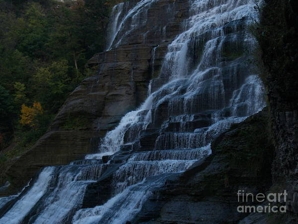Ithaca Falls Poster featuring the photograph Ithaca Falls At Dusk by Anna Lisa Yoder