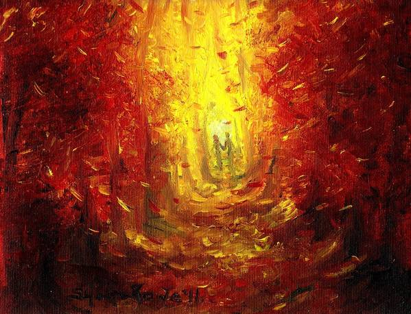 Fall Poster featuring the painting Ive Fallen For You by Shana Rowe Jackson