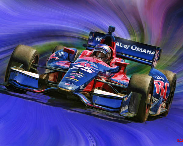 Indycar Series Poster featuring the photograph Izod Indycar Series Marco Andretti by Blake Richards