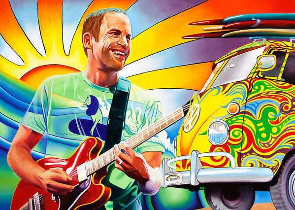 Jack Johnson Poster featuring the painting Jack Johnson by Joshua Morton