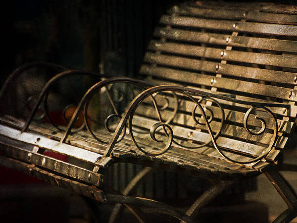 Bench Poster featuring the photograph Jackson Square Bench by Brenda Bryant