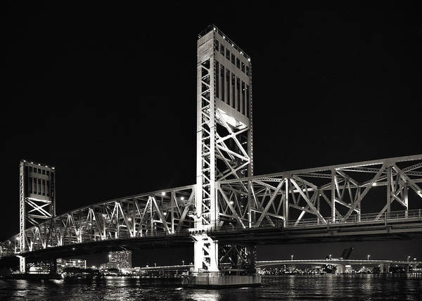 Main Poster featuring the photograph Jacksonville Florida Main Street Bridge by Christine Till
