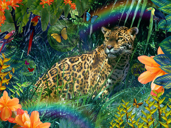 Alixandra Mullins Poster featuring the photograph Jaguar Meadow Variant 1 by Alixandra Mullins