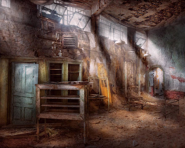 Jail Poster featuring the photograph Jail - Eastern State Penitentiary - Sick Bay by Mike Savad