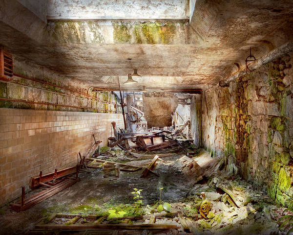 Jail Poster featuring the photograph Jail - Eastern State Penitentiary - The Mess Hall by Mike Savad