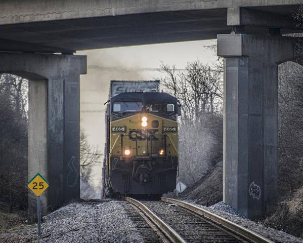 Csx Railroad Poster featuring the photograph January 20. 2015 - Csx Q028 by Jim Pearson