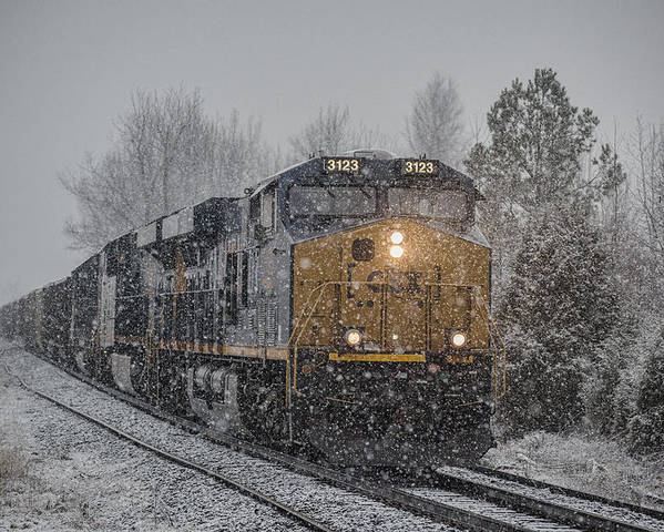 Csx Railroad Poster featuring the photograph January 23. 2015 - Csx T103-3 by Jim Pearson