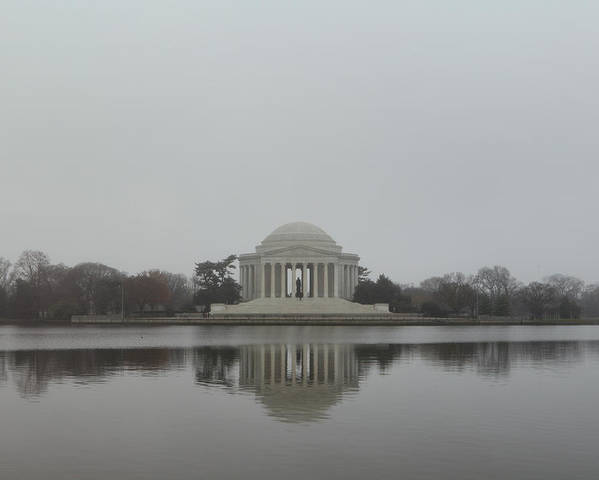 America Poster featuring the photograph Jefferson Memorial - Washington Dc - 01136 by DC Photographer