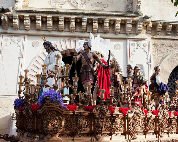 Cordoba Poster featuring the photograph Jesus Christ And Roman Soldiers On Procession by Artur Bogacki