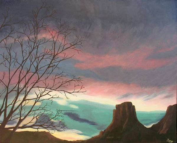 Sedona Poster featuring the painting Jewels In The Sky by Janis Mock-Jones