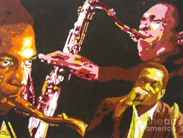 Jazz Poster Featuring The Painting John Coltrane A Love Supreme By Ronald Young