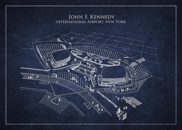 Jfk Poster featuring the digital art John F Kennedy International Airport by Aged Pixel