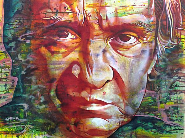 Johnny Cash Poster featuring the painting Johnny Cash by Joshua Morton