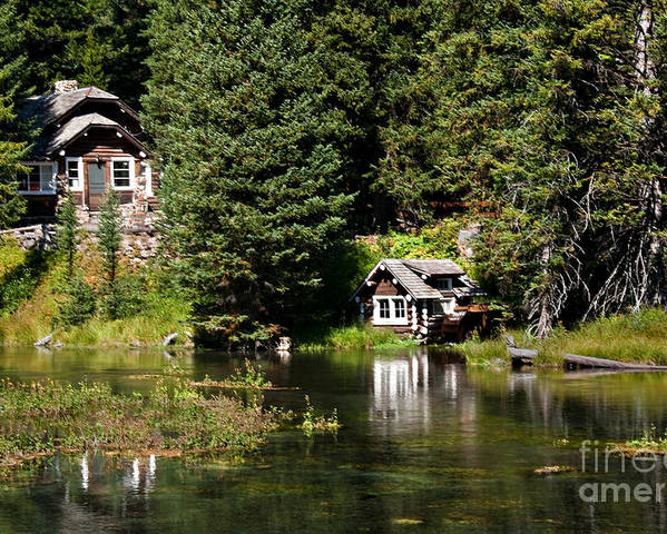 Idaho Poster featuring the photograph Johnny Sack Cabin by Robert Bales