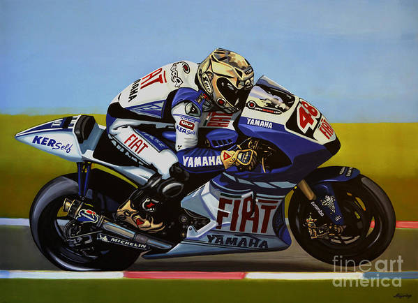 Jorge Lorenzo Poster featuring the painting Jorge Lorenzo by Paul Meijering