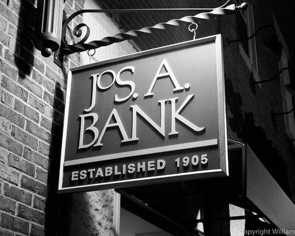 Store Sign Poster featuring the photograph Jos. A. Bank by William Woide