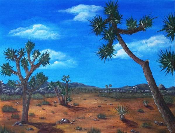 Malakhova Poster featuring the painting Joshua Tree Desert by Anastasiya Malakhova