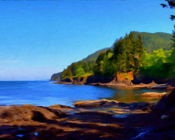 Shoreline Poster featuring the painting Juan De Fuca Shoreline by Paddrick Mackin