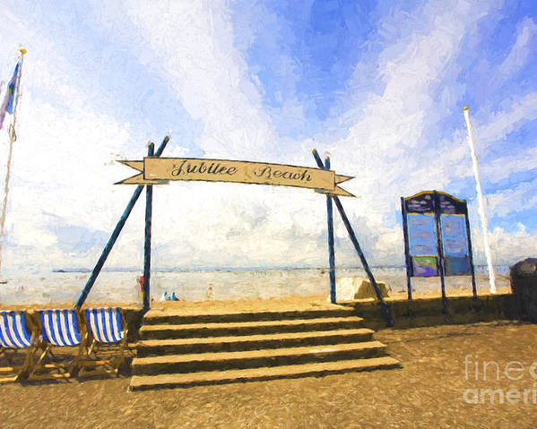 Jubilee Beach Poster featuring the photograph Jubilee Beach Southend On Sea by Sheila Smart Fine Art Photography