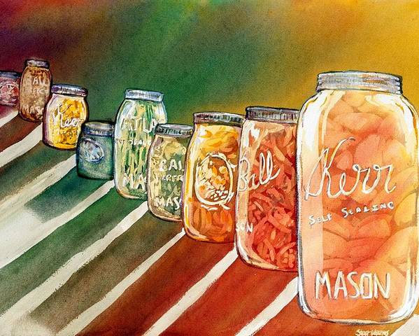 Ball Poster featuring the painting July's Harvest by Starr Weems