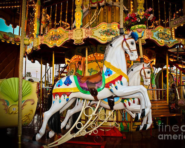Carousel Poster featuring the photograph Jumper by Colleen Kammerer
