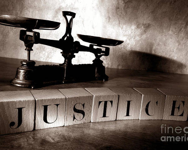 Justice Poster featuring the photograph Justice by Olivier Le Queinec