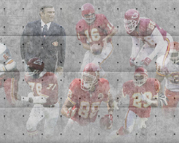 Chiefs Poster featuring the photograph Kansas City Chiefs Legends by Joe Hamilton