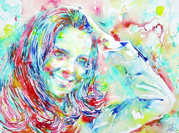 Kate Poster featuring the painting Kate Middleton Portrait.1 by Fabrizio Cassetta