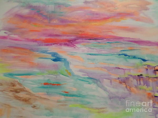 Abstract Landscape Poster featuring the painting Kathy IIi by Sharon Worley