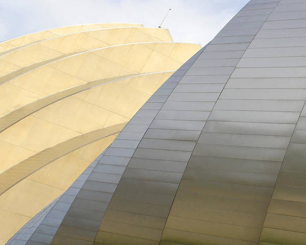 Abstract Building Poster featuring the photograph Kauffman Center For Performing Arts by Mike McGlothlen