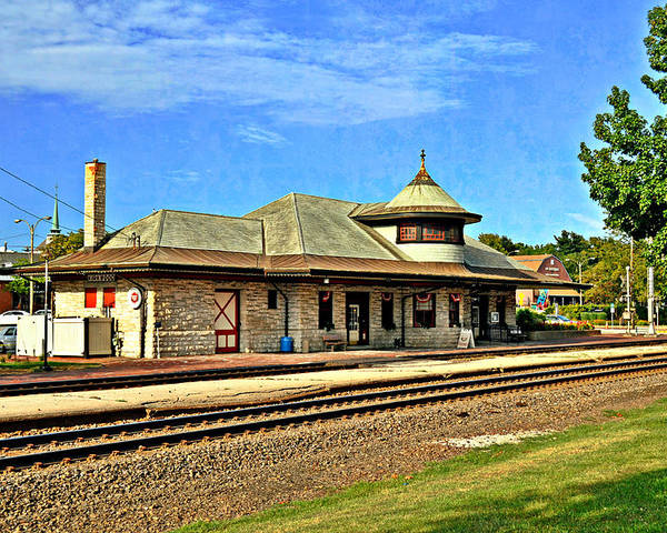 Train Poster featuring the photograph Kirkwood Station by Marty Koch