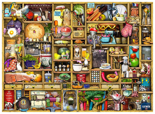 Confusing Poster featuring the digital art Kitchen Cupboard by Colin Thompson