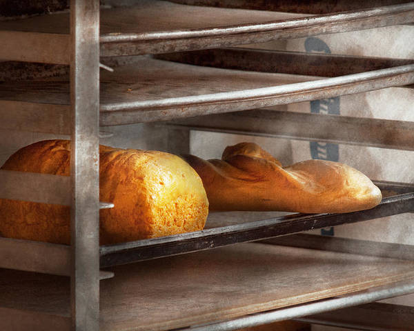Savad Poster featuring the photograph Kitchen - Food - Bread - Freshly Baked Bread by Mike Savad