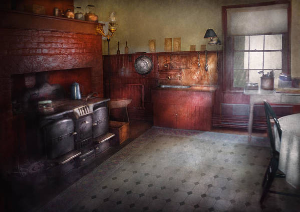 Hdr Poster featuring the photograph Kitchen - Storybook Cottage Kitchen by Mike Savad