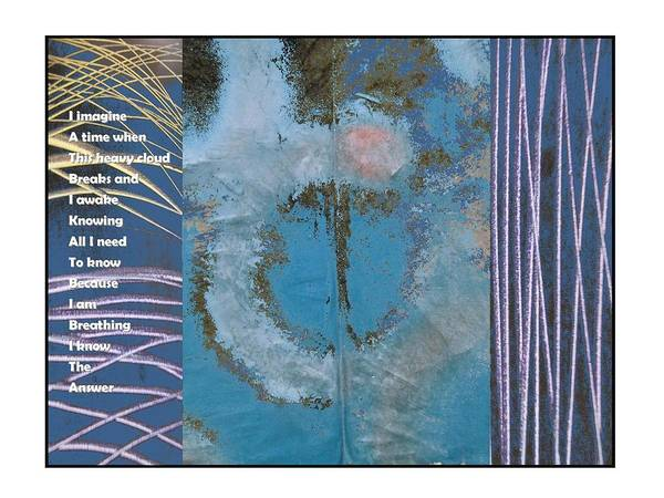 Triptych Poster featuring the digital art Know The Answer by George Guarino