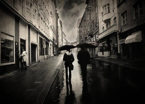 Rain Photograph Poster featuring the photograph Koblizna by Taylan Apukovska